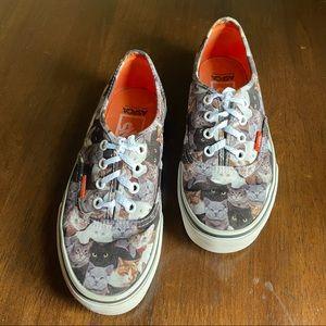 Vans x ASPCA Slip On Cat Print Shoes Size 7